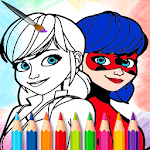 Ladybug coloring book for Miraculous kids icon