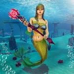 Underwater Mermaid Simulator icon