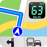 GPS Navigation, Maps & Digital Speedometer icon