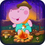 Scout adventures. Camping for kids icon