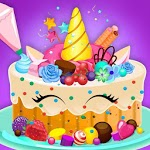 Unicorn Cake Donut Maker Baking Kitchen icon