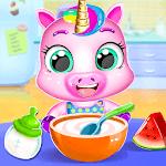 Unicorn Care Nanny Pet House APK icon