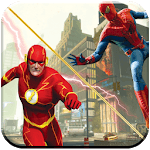 amazing super hero flash game icon