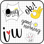 Cute Word Doodle Emoji Stickers APK icon