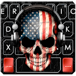 America Dj Skull Keyboard Theme icon