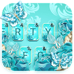 Blue Rose Butterfly Keyboard Theme icon