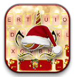 Christmas Unicorn Keyboard Theme for pc icon