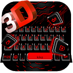 Neon 3D Red Keyboard Theme icon
