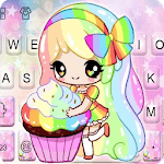 Colorful Cupcake Girl Keyboard Theme icon