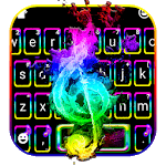 Colorful Music Night Keyboard Theme icon