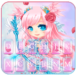 Cupid Pretty Girl Keyboard Theme icon