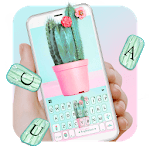 Cute Colorful Cactus Keyboard Theme icon