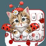 Cute Ladybird Kitten Keyboard Theme icon