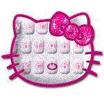 Hot Pink Kittie Hello Keyboard icon