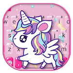 Cute Pink Unicorn Keyboard Theme icon