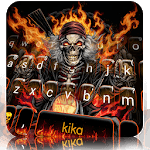 Fire Skull Rider Keyboard Theme icon
