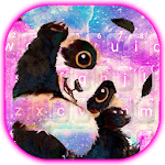 Galaxy Cute Panda Keyboard Theme icon