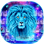 Galaxy Neon Lion Keyboard Theme icon