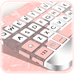 Geometric Coral Pink Keyboard Theme icon