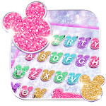 Girly Glitter Minny Keyboard Theme for pc icon