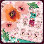 Girly Wall Flower Keyboard Theme icon
