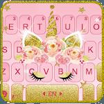 Gold Shinny Unicorn Keyboard Theme icon