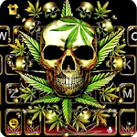 Gold Weed Skull Keyboard Theme icon
