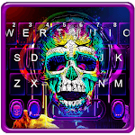 Graffiti Colorful Skull Keyboard Theme icon