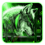 Green Wild Wolf Keyboard Theme icon