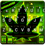 Live Neon Green Leave Keyboard Theme icon