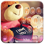 Lovely Brown Teddy Keyboard Theme APK icon