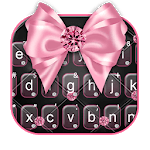 Luxury Pink Bow Keyboard Theme icon
