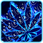 Neon Blue Weed Keyboard Theme icon