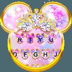 Pink Galaxy Minny Free Keyboard Theme icon