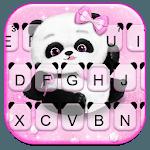 Pink Girly Panda Keyboard Theme icon