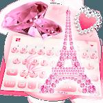 Pink Diamond Paris Keyboard Theme icon