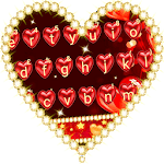 Red Love Heart Keyboard Theme icon