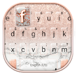 Rose Gold Glitter Marble Keyboard Theme icon