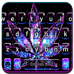 Shiny Galaxy Weed Keyboard Theme for pc icon
