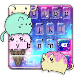 Sparkle Ice Cream Cat Keyboard Theme icon