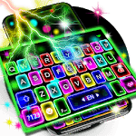 Thunder Neon Lights Keyboard Theme icon
