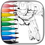 Superhero Coloring icon
