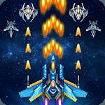 Galaxy sky shooting icon