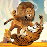 Ultimate Lion Vs Tiger: Wild Jungle Adventure icon