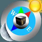 Qibla (Qibla direction & prayer times) icon