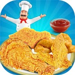 Deep Fry Chicken Cooking Game icon