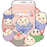 Cartoon adorable pink expression launcher icon