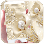 Silk Gold Flower Theme icon