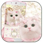 Cute pink kitty Theme icon