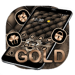 Gold Leather Crown Luxury Theme icon